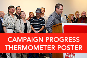 Campaign Progress Thermometer Poster